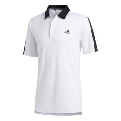 Tricouri Polo adidas Bold Brand Golf pentru Barbati alb negru