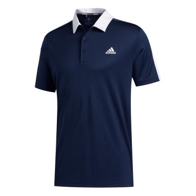 Tricouri Polo adidas Bold Brand Golf pentru Barbati bleumarin alb