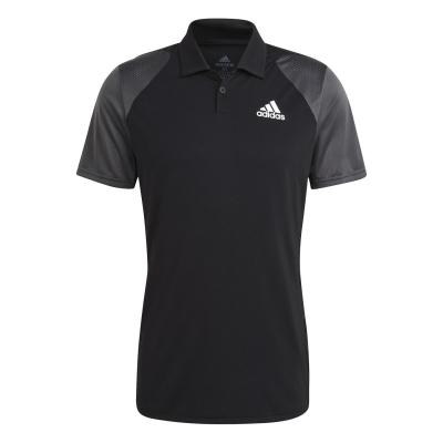 Tricouri Polo adidas Club Performance negru alb