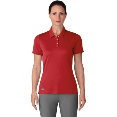 Tricouri Polo adidas cu Maneca Scurta Golf pentru femei rosu