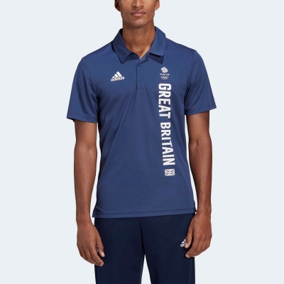 Tricouri Polo adidas Great Britain Team pentru Barbati tech albastru