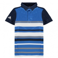 Tricouri Polo adidas Print Golf pentru baietei bleumarin albastru