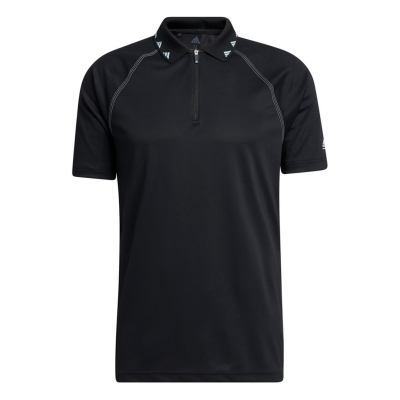Tricouri Polo adidas Zipper Pique pentru Barbati negru