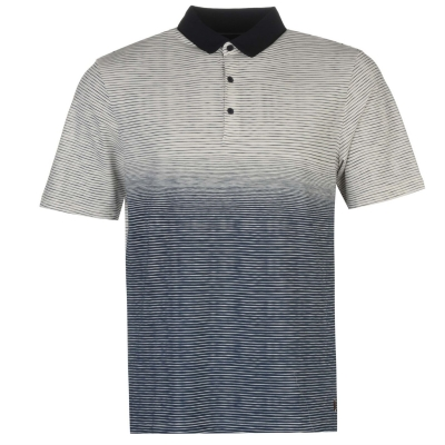Tricouri Polo Ashworth Ombre cu dungi Golf pentru Barbati