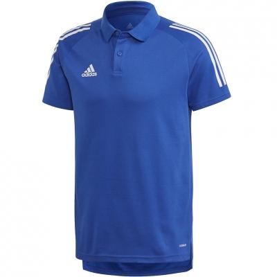 Tricouri Polo barbati Adidas Adidas Condivo 20 albastru-alb ED9237