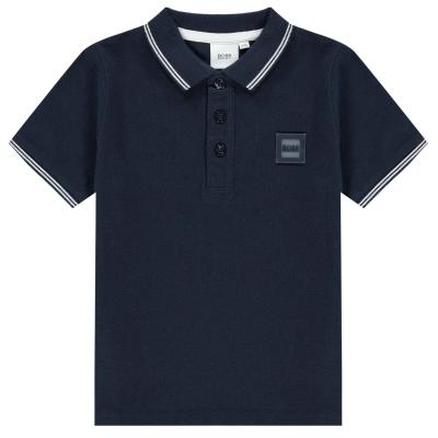 Tricouri Polo Boss Logo bleumarin
