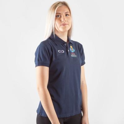 Tricouri Polo C2C Netball WC 2019 Fitted pentru femei bleumarin