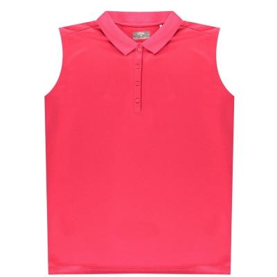 Tricouri Polo Callaway fara maneci tricot pentru Femei virtual roz
