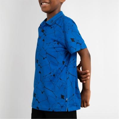 Tricouri polo Calvin Klein Golf G Print Jn13 albastru