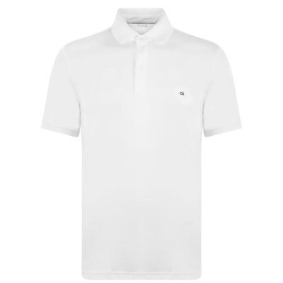 Tricouri Polo Calvin Klein Logo alb