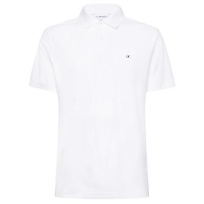 Tricouri Polo Calvin Klein Slim Fit perfect alb