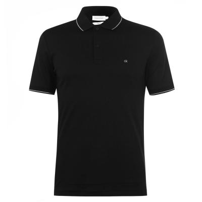 Tricouri Polo Calvin Klein Soft bumbac negru bds