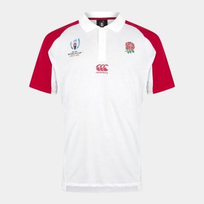 Tricouri Polo Canterbury Anglia 2019 Rugby Cupa Mondiala pentru Barbati bright alb