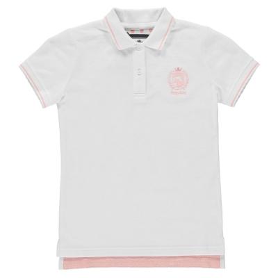 Tricouri polo Requisite clasic pentru fete alb