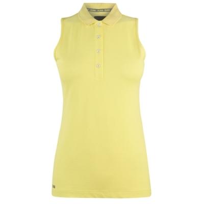 Tricouri Polo Colmar Donna fara maneci pentru Femei galben