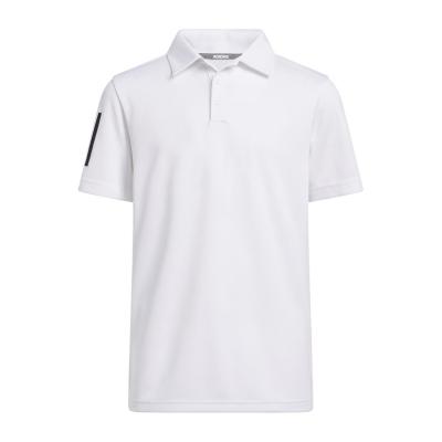 Tricouri polo cu dungi adidas 3 Shirt pentru baietei alb