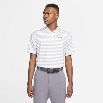 Tricouri polo cu dungi Nike Essential Shirt pentru Barbati alb