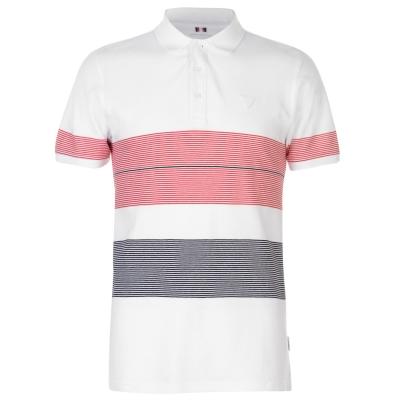 Tricouri polo cu dungi Soviet Thin alb rosu