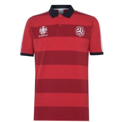 Tricouri polo cu dungi UEFA Euro 2020 Anglia Shirt pentru Barbati rosu inchis