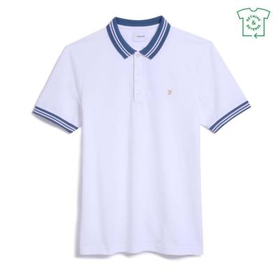 Tricouri Polo cu Maneca Scurta Farah Vintage Stanton alb