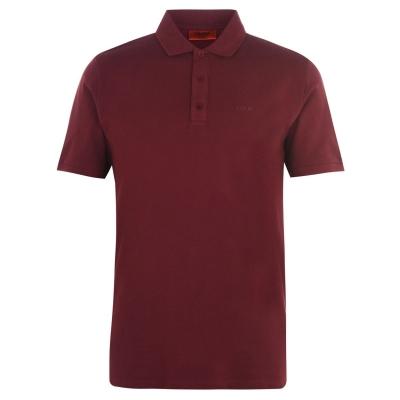 Tricouri Polo cu Maneca Scurta Hugo Donos inchis rosu