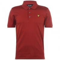 Tricouri Polo cu Maneca Scurta Lyle and Scott brick rosu z735