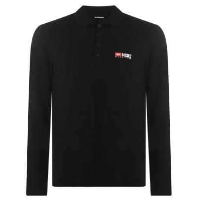 Tricouri Polo Diesel cu Maneca Lunga Logo negru