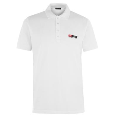 Tricouri Polo Diesel Division alb
