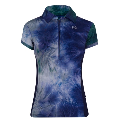 Tricouri Polo echitatie Orla Tech pentru Femei verde bleumarin