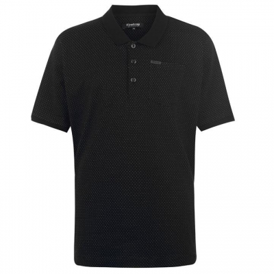 Tricouri Polo Firetrap Blackseal XL Pinpoint negru