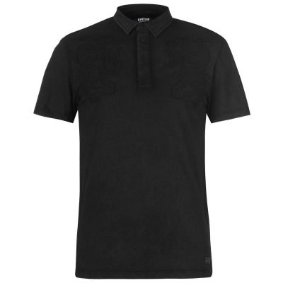 Tricouri polo Firetrap Blackseal Embroidered negru