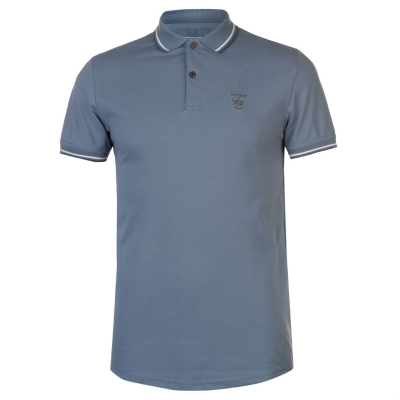 Tricouri Polo Firetrap Lazer Slim Fit albastru mirage