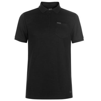 Tricouri Polo Firetrap Blackseal Rib cu fermoar bleumarin