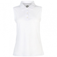 Tricouri polo Footjoy Essential fara maneci alb