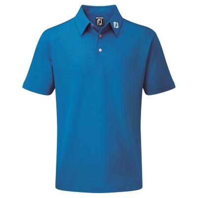 Tricouri Polo Footjoy Pique Solid Juniors albastru