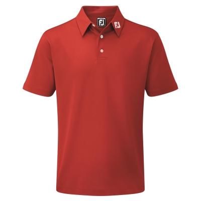 Tricouri Polo Footjoy Pique Solid Juniors rosu