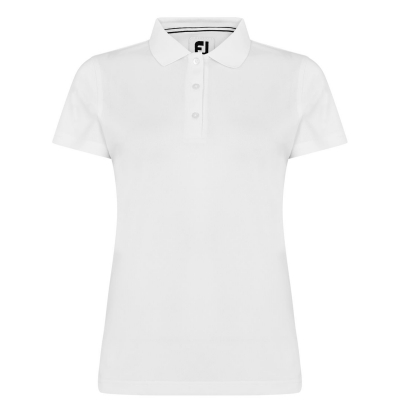 Tricouri Polo Footjoy Stretch Pique pentru Femei alb