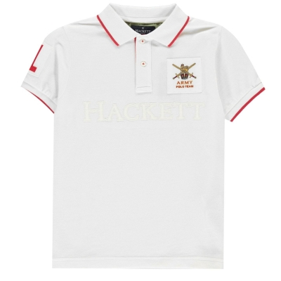 Tricouri polo Hackett Hacket Army alb