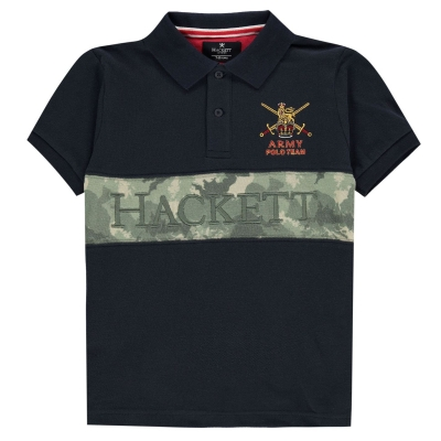 Tricouri polo Hackett Hacket Army bleumarin verde 5cw