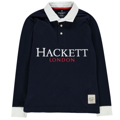 Tricouri polo Hackett Hacket Cross bleumarin