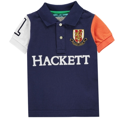 Tricouri Polo Hackett Hackett Multi-coloured Short-Sleeved pentru baieti 5al albastru multicolor