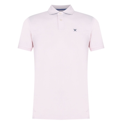 Tricouri Polo Hackett Logo deschis roz