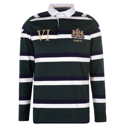 Tricouri Polo Howick cu Maneca Lunga Rugby verde