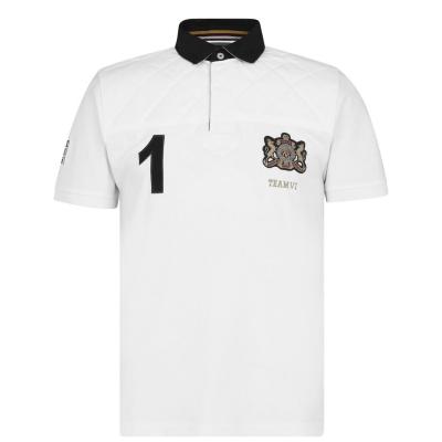 Tricouri Polo Howick cu Maneca Scurta Rugby alb