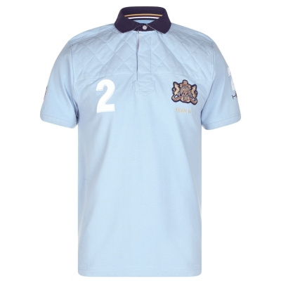 Tricouri polo Howick cu Maneca Scurta Rugby deschis albastru