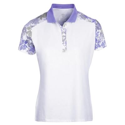 Tricouri Polo Island verde Print Golf pentru Femei alb mov