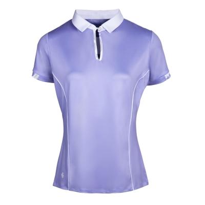 Tricouri polo pentru golf Island verde pentru Femei lav alb