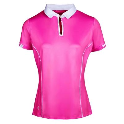Tricouri polo pentru golf Island verde pentru Femei roz alb