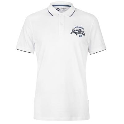 Tricouri Polo Jack and Jones Core Heritage pentru Barbati alb