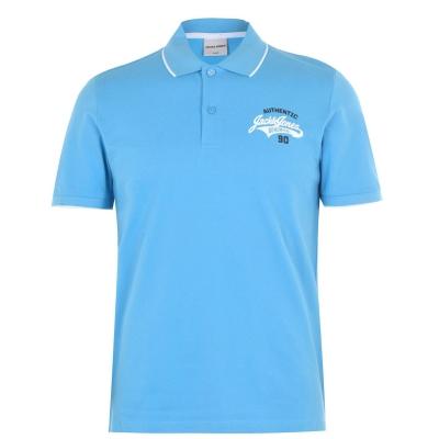 Tricouri Polo Jack and Jones Core Heritage pentru Barbati albastru deschis alb